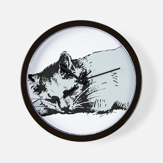 Cat Nap Wall Clock