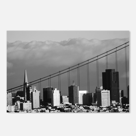 Golden Gate Bridge Fog Bank Postcards (8)