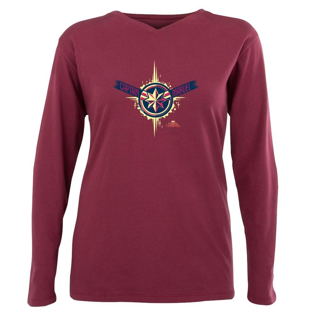 4776845fe63 CafePress Captain Marvel T Shirt Plus Size Long Sleeve Tee ...