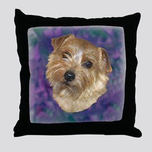 "Norfolk Terrier ""Sassy"" Throw Pillow"