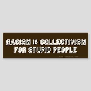 Racism is Stupid Bumper Sticker