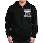 ALIENS and UFO's #2 Zip Hoodie (dark)