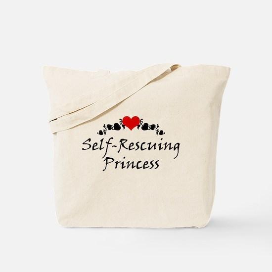 Self-Rescuing Princess Tote Bag