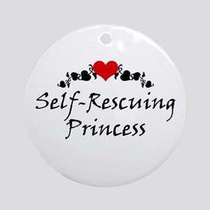 Self-Rescuing Princess Ornament (Round)