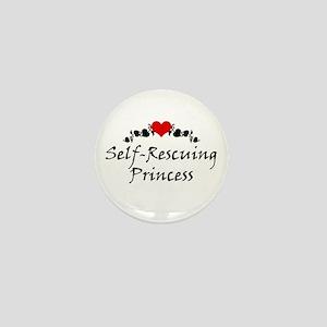 Self-Rescuing Princess Mini Button