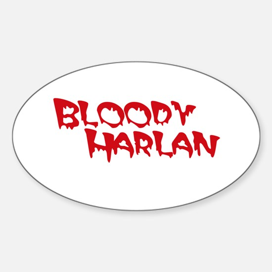 Bloody Harlan Sticker (Oval)