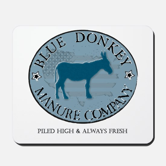 Blue Donkey Manure Company Mousepad