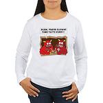 MONSTER eat CLOWNS Women's Long Sleeve T-Shirt