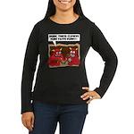 MONSTER eat CLOWNS Women's Long Sleeve Dark T-Shir