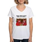 MONSTER eat CLOWNS Women's V-Neck T-Shirt