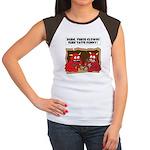 MONSTER eat CLOWNS Women's Cap Sleeve T-Shirt