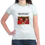 MONSTER eat CLOWNS Jr. Ringer T-Shirt