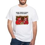 MONSTER eat CLOWNS White T-Shirt