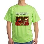 MONSTER eat CLOWNS Green T-Shirt