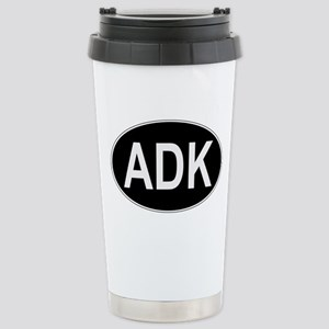 Stainless Steel Travel Mug with ADK Euro Oval