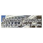 Government Education Bumper Sticker