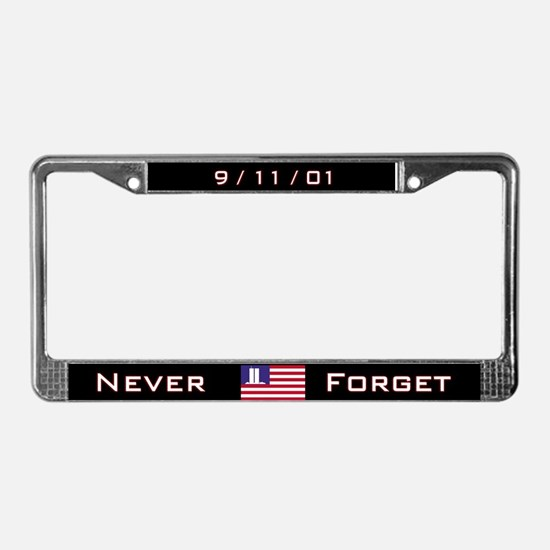 The WTC Memorial FlagLicense Plate Frame