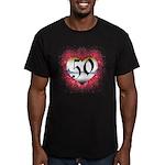 Gothic Heart 50th Men's Fitted T-Shirt (dark)