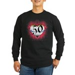 Gothic Heart 50th Long Sleeve Dark T-Shirt