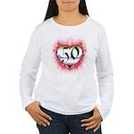Gothic Heart 50th Women's Long Sleeve T-Shirt