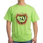 Gothic Heart 50th Green T-Shirt