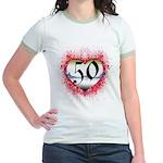 Gothic Heart 50th Jr. Ringer T-Shirt