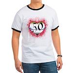 Gothic Heart 50th Ringer T
