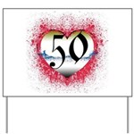 Gothic Heart 50th Yard Sign