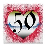 Gothic Heart 50th Tile Coaster