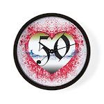 Gothic Heart 50th Wall Clock
