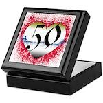 Gothic Heart 50th Keepsake Box