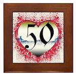 Gothic Heart 50th Framed Tile