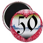 Gothic Heart 50th Magnet