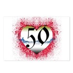 Gothic Heart 50th Postcards (Package of 8)