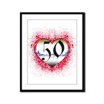 Gothic Heart 50th Framed Panel Print