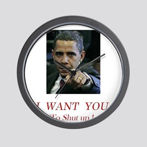I Want You! to shut up! Wall Clock