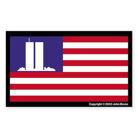 The WTC Memorial Flag Sticker