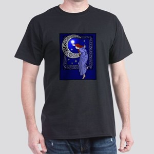 Celtic Moon Woman Black T-Shirt
