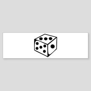Dice - Three Bumper Sticker