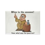 Wine is the Answer Rectangle Magnet (10 pack)