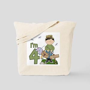 Lil Fisherman 4th Birthday Tote Bag
