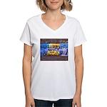 Women's V-Neck T-Shirt GRAFITTI
