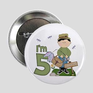 "Lil Fisherman 5th Birthday 2.25"" Button"