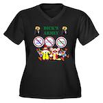 Dick's Armey Women's Plus Size V-Neck Dark T-Shirt