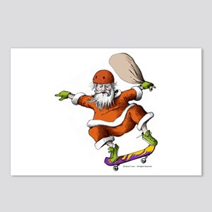Skateboarding Santa Postcards (Package of 8)
