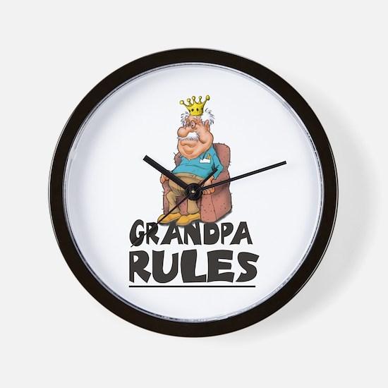 GRANDPA RULES Clock