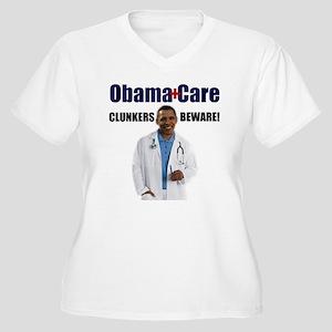 ObamaCare Women's Plus Size V-Neck T-Shirt
