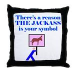 Jackass Symbol Throw Pillow