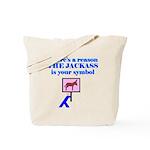 Jackass Symbol Tote Bag