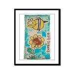 Bumblebee Framed Panel Print